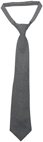 French Toast Boys' Adjustable Solid 14-20 Size Tie, Heather Gray, ()