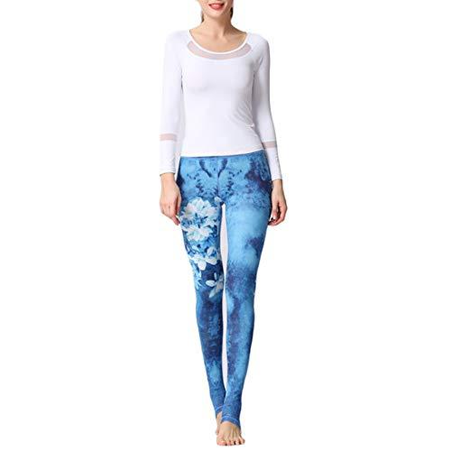 Il Pantaloni yoga Fitness Piede ballo Abbigliamento Libero pantacollant da yoga Tempo Yh52 Donna MUCHAO da nuovo Stampa Pantaloni calpestare Pantaloni 7xCzanq4w