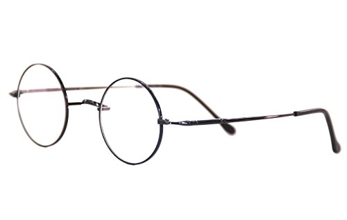 547fe79e62 Agstum Pure Titanium Retro Round Prescription Eyeglasses Frame (Without  Nose Pads)