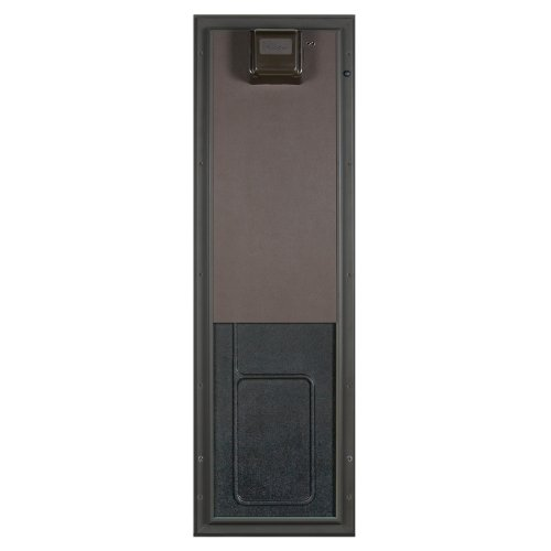PlexiDor Performance Pet Doors Electronic Dog Door Large Bronze Door Mount (Gate Bronze Snap)