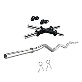 Kore Weight Lifting Rods + One Pair Dumbbell Rods Combo with Accessories