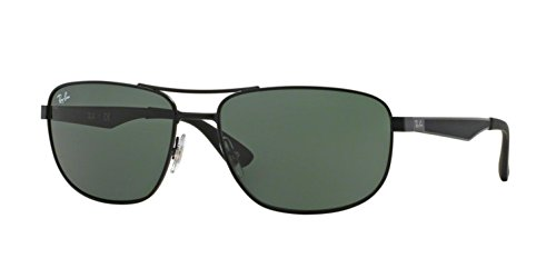 Ray-Ban 3528 006/71 Matte Black 3528 Square Aviator Sunglasses Lens Category 3 (Rb3528)