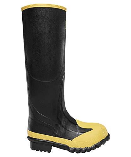 - LaCrosse Footwear 0022-8260 SZ 14 Meta Pac Rubber Boot with Steel Toe and Metatarsal, 16, Black