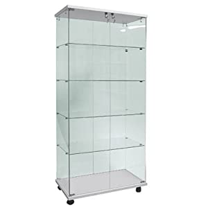 glass display cabinet,show case,full vision,stand display: Amazon ...