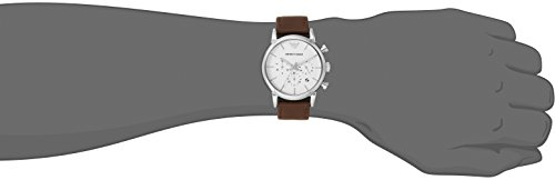 Uhr Leder Mit Herren Ar1846 Analog Armband Armani Emporio Quarz CoWQBrxed