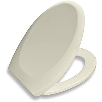 Bath Royale Premium Elongated Toilet Seat with Cover, Almond/Bone - Slow Close, Quick Release for Easy Cleaning. Fits All Elongated (Oval) Toilets