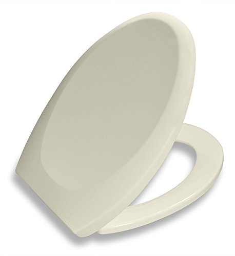 Bath Royale Premium Elongated Toilet Seat with Cover, Almond-Bone, Slow-Close, Quick-Release for Easy Cleaning. Fits All Elongated (Oval) Toilets - Toilet Seat Bone
