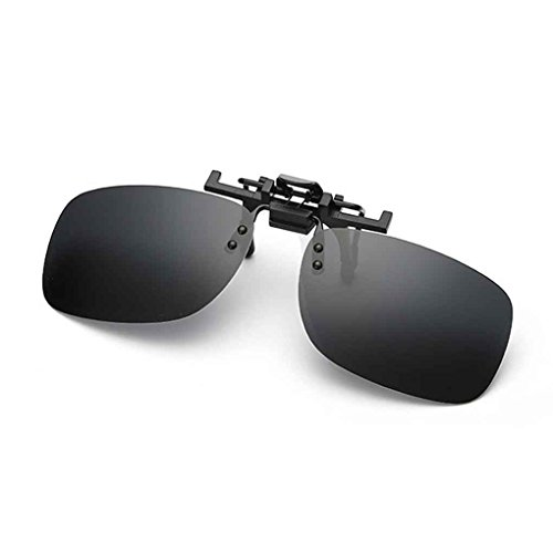 de Soleil de Hommes Clip on Square en Lunettes 5 Clip Fashion 1 Up Flip métal Aiming Polarized zvPvw
