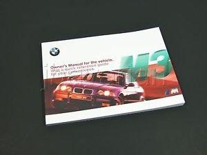 amazon com genuine bmw owners manual e36 m3 09 1997 09 1999 rh amazon com 1999 bmw owners manual 4 door 1999 bmw 528i service manual pdf