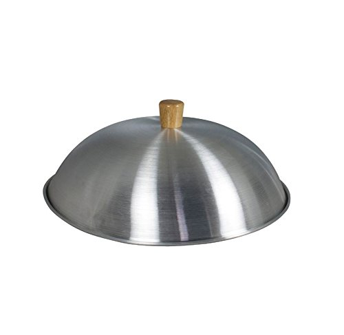 Swift Wok Lid for 14'' woks, aluminium, wood knob (14'' (34cm))