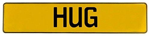 Vintage Parts 658081 Hug Yellow Stamped Aluminum Street Sign Mancave Wall Art