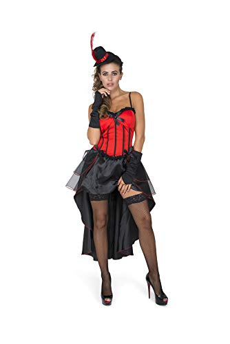 Safety Tips For Halloween Costumes (Burlesque Costume, Showgirl Dress Cape Women, Red and Black,)