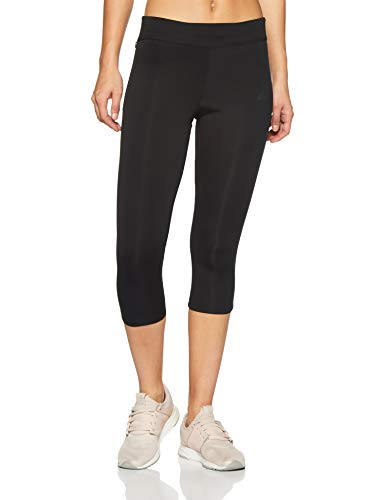 adidas Women's Response Three-Quarter Tights (Black/Black, M)