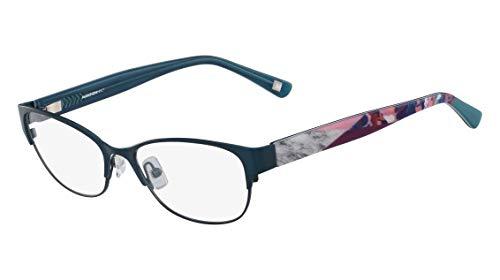 Óculos Marchon Nyc M-Annisa 320 Verde Estampado Lente Tam 54