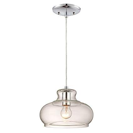 Westinghouse Lámpara de Techo Colgante de 1 Luz E27, Cromo, 151 cm