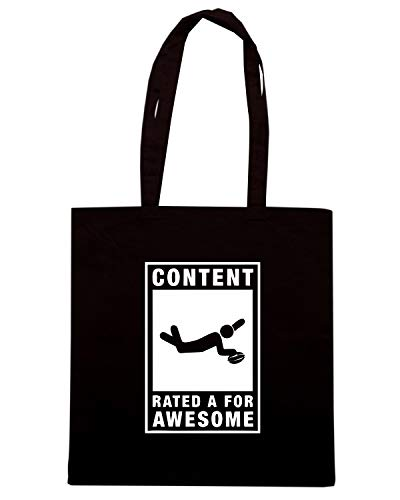 RUGBY RATED AWESOME Nera FOR Borsa A CONTENT Shirt TRUG0100 LOGO Shopper Speed wqYF40Ax