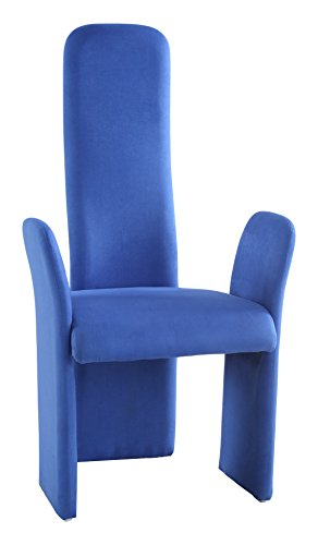 Genial Milan LOTUS AC BLU Lotus High Back Contemporary Arm Chair, Set Of 2