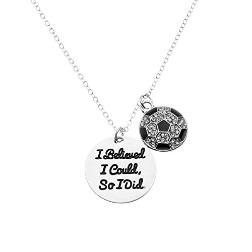 Soccer Necklace, Soccer Jewelry - I Believed I Could So I Did Pendent - Perfect Soccer Player ()