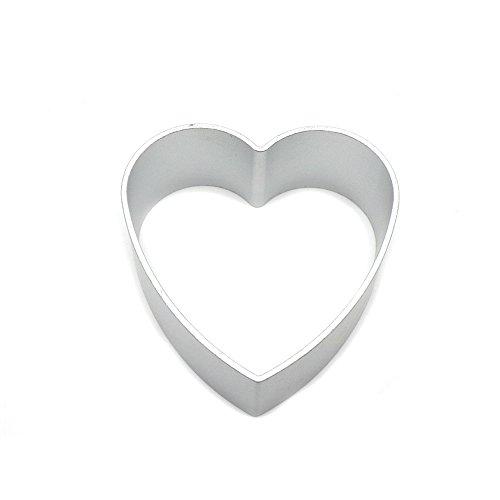 BTMB Aluminum Cookie Cutter Rectangles Set of 10 (Heart shape) ()