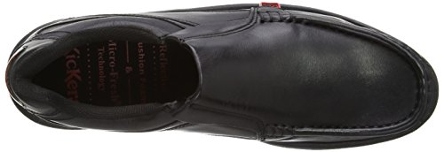 Mens On REASAN Black SLIP Kickers Leather Slip Shoes qvHEvAcy