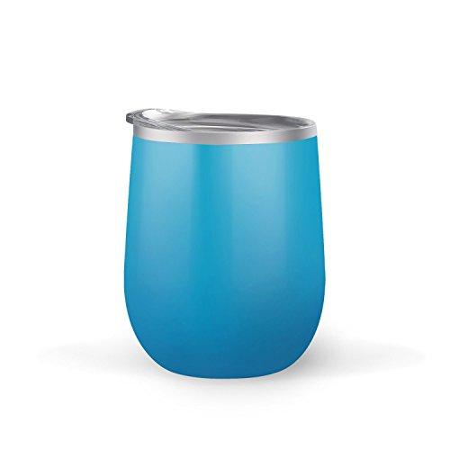 maars bev steel stemless wine glass tumbler 12 oz double wall vacuum aqua bar ebay. Black Bedroom Furniture Sets. Home Design Ideas