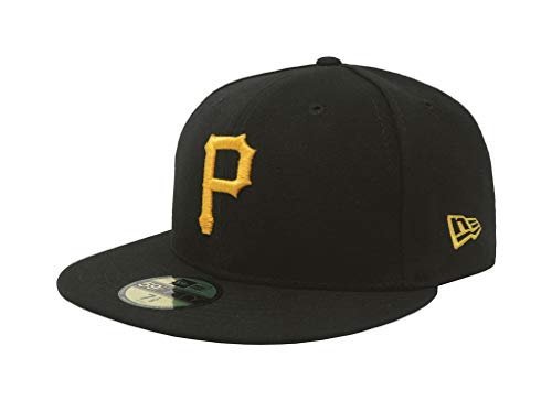 Men's Pittsburgh Pirates New Era Black Game Authentic Collection On-Field 59FIFTY Fitted Hat Size 7 1/2