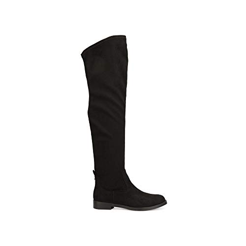 Kenneth Cole REACTION Women's Wind-y Over The Knee Stretch Boot, Black, 8.5 M US