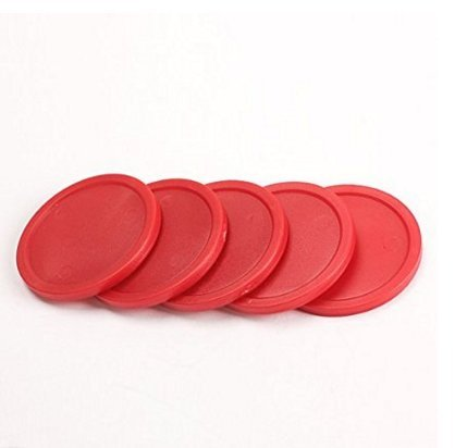 Glamorway Pack of 5 Red 2-inch Mini Air Hockey Table Pucks (2.5-inch) ()