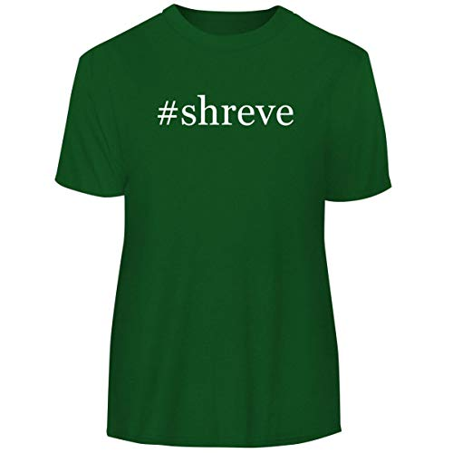 One Legging it Around #Shreve - Hashtag Men's Funny Soft Adult Tee T-Shirt, Green, Small