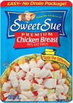 Sweet Sue Chicken Breast, 3 Oz, Pack of 8