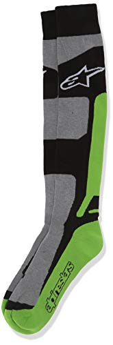 Alpinestars Men's 4702114-916-LXL Sock (Coolmax) (Green, X-Large), Large/X-Large