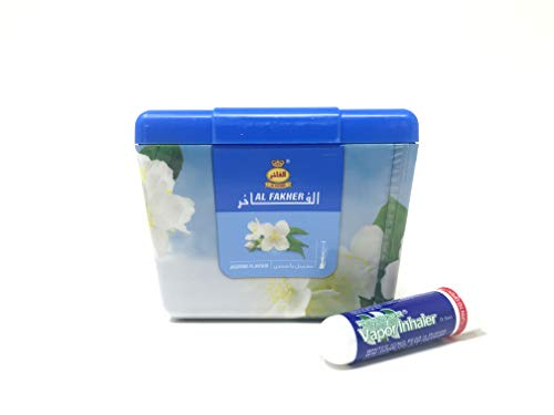Al Fakher Shisha Molasses - Non Tobacco 250g Jasmine Flower Flavour Hookah Water Pipe Sold by SuperStore77 with Trademark Vapor Inhaler (Best Al Fakher Flavors)