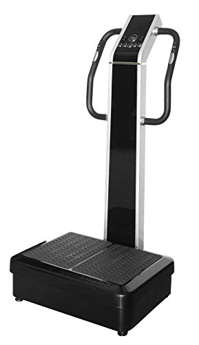 Professional Dual Motor 1500W Full Body Vibration Plate Exercise Fitness Machine, with Heart Rate Monitor by WP Fitness