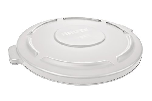 Rubbermaid Commercial Vented BRUTE Trash  Can Lid, 10 Gallon, (Round Low Lid)