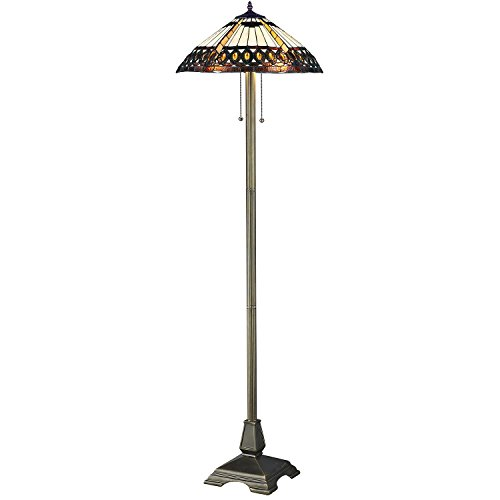 Serena ditalia 1908 studios amberjack tiffany style floor lamp serena ditalia 1908 studios amberjack tiffany style floor lamp elegant standing lamp mosaic stained glass floor lamps with double pull chain yellow aloadofball Choice Image
