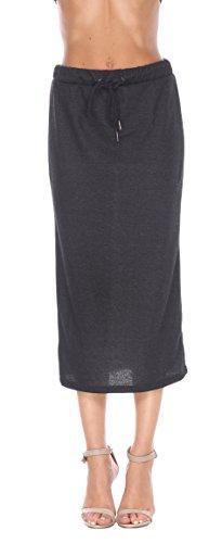 Brocade Tulip Skirt (Stanzino Women's Drawstring Waist Midi Skirt)