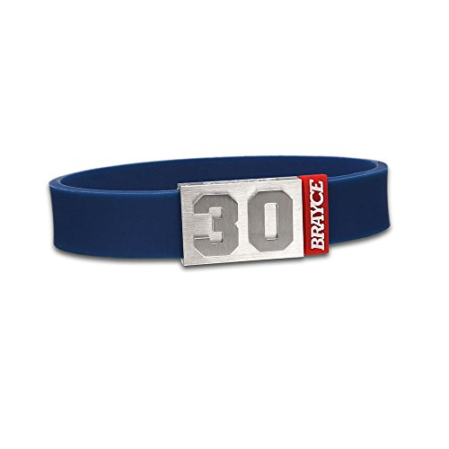 "fan products of BRAYCE Team Colors: Customize your jersey bracelet navyblue with your player number (0-99) 7 sizes (6,3"" – 8,7""): Hockey, Baseball, Basketball & Football"