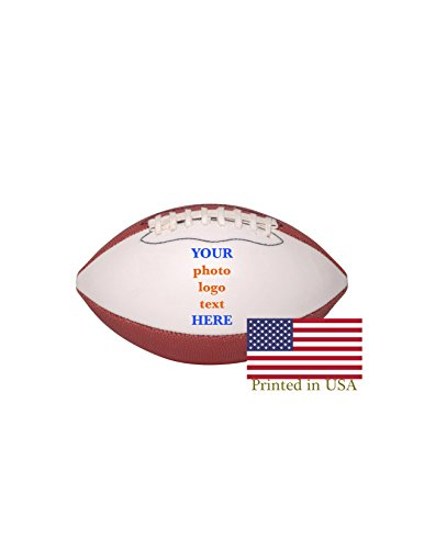 Custom Personalized Mini Football - 6 Inch Football - Shipped Next Day, High Resolution Photos, Logos & Text on Football Balls - for Trophies, Personalized Gifts -
