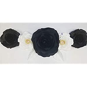 DecorInTheBox Large Handmade 7 Piece Paper Flower Set Event Decoration, Fully Assembled, Baby Shower,Nursery Decoration, Home Decor, Birthday, Artificial Wedding Flowers 68