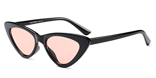 Sol Negro Triángulo Mujer Gafas gafas BOZEVON Retro de Rosa Moda 6tTqwT80n