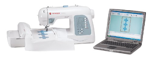 037431882943 - SINGER Futura XL-400 Computerized Sewing and Embroidery Machine with 18.5-by-11-Inch Multihoop Capability Including 2 Hoops, 125 Embroidery Designs, 5 Monogramming Fonts carousel main 8