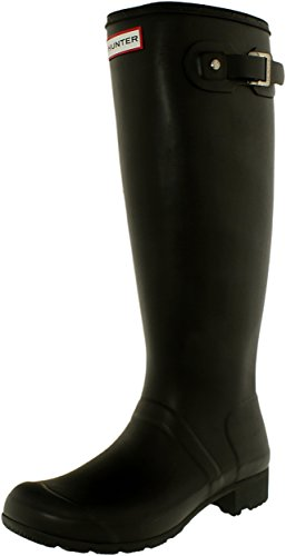 Hunter Women's Original Tour Black Knee-High Rubber Rain Boot - 9M by Hunter