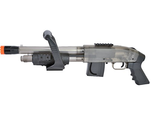 Mossberg Chainsaw Spring Powered Pump Airsoft Shotgun in clear by Mossberg