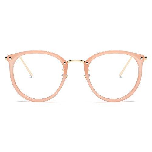 fe7d39f2e Amomoma Fashion Round Eyewear Frame Eyeglasses Optical Frame Clear ...