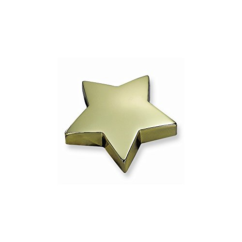 Plated Star Paperweight - Brass-plated Star Paperweight