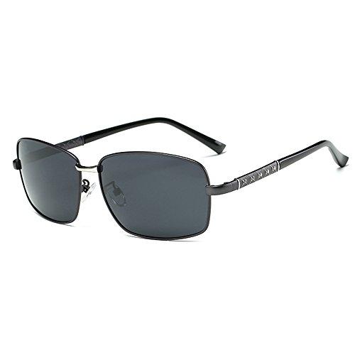 Men's Driving Polarized Grey Sunglasses Lens Fauhsto Protection UV Glasses Sunglasses Eyeglasses Frame black Sunglasses Mirror Gun 605xqtgx