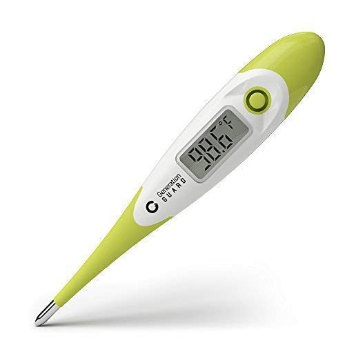 Clinical Digital Thermometer Best to Read & Monitor Fever Temperature in Quick 15 Seconds by Oral Rectal Underarm & Axillary - Professional Thermometers & Reliable Readings for Baby Adult Children