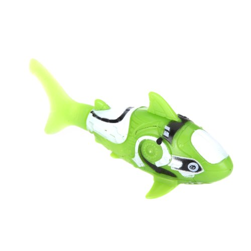 Kingzer Shark Pattern Water Activated Electronic Lifelike Swimming Fish Kids Toy Green
