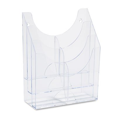 Optimizers Multipurpose Six-Pocket Organizer, 9 3/4 x 4 1/4 x 12, Clear, Total 4 EA, Sold as 1 Carton by Rubbermaid