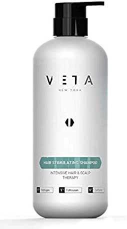 Veta – Hair Stimulating Shampoo For Hair Loss – Drug Free & Sulfate Free Treatment for Men and Women – Restores Hair Growth Cycle – 1% Trichogen and 1% Follicusan – 27 fl. oz.